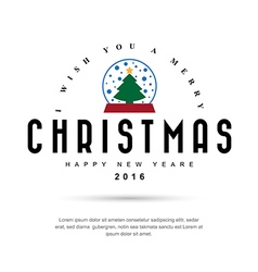 Merry Christmas and Happy New Year typographic vector image vector image