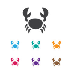 of animal symbol on crab icon vector image