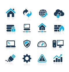 Web Developer Icons Azure Series vector image vector image