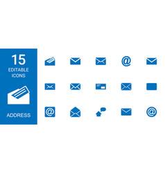 15 address icons vector