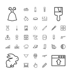 37 drawing icons vector
