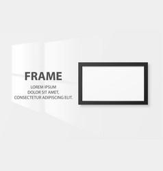 3d realistic black horizontal wooden simple vector image