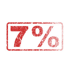 7 percent rubber stamp vector image