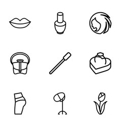 9 beauty icons vector