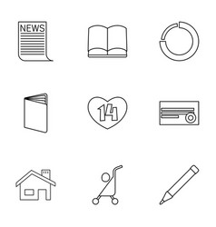 9 page icons vector