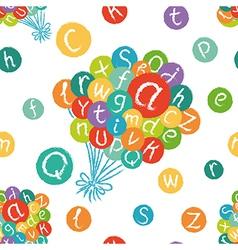 Alphabet balloons pattern vector image