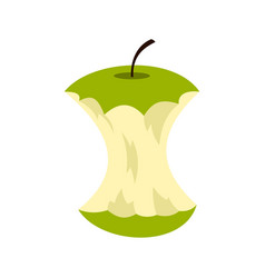 apple core icon flat style vector image
