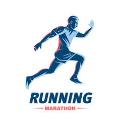 Art concept a running man vector
