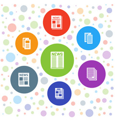 Article icons vector