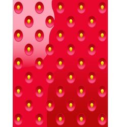 Background strawberries vector