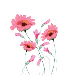 Beautiful water color paintings of flowers vector