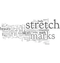 Beauty consciousness and stretch marks vector
