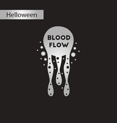 Black and white style icon blood flow vector