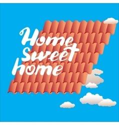 Calligraphic phrase Home sweet vector