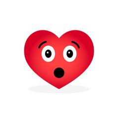 Cartoon heart emoticon isolated on white vector