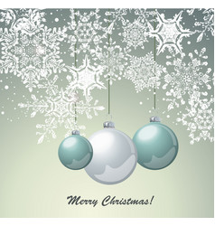christmas card design with glass balls vector image