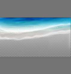 Coastal water transparent composition vector