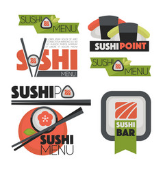 collection of logos sush vector image