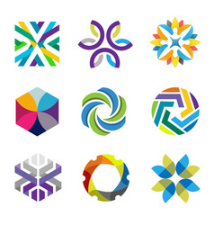 colorful abstract forms for business symbols vector image