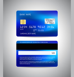 credit card front and back side credit vector image
