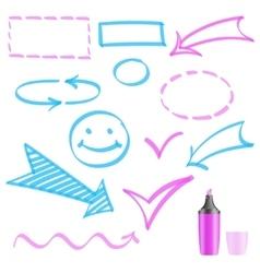 Design elements painted marker vector image