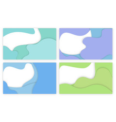 Design of web page business banner abstraction vector