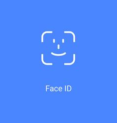 Face id facial recognition user verification vector