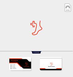 Foot healing or medicine concept logo template vector
