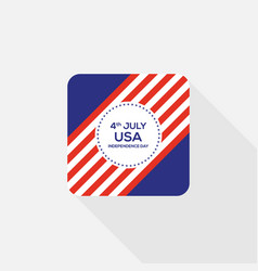 fourth july independence day united states of vector image