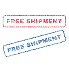 Free shipment textile stamps vector