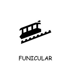Funicular flat icon vector