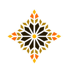 Geometric lattice mandala style vector