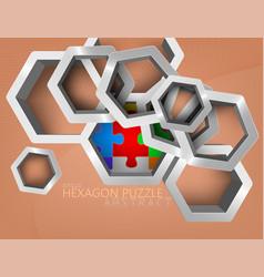 Glossy silver hexagon vector
