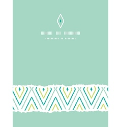 Green ikat diamonds vertical torn seamless vector