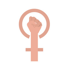 hand in fight signal isolated icon vector image