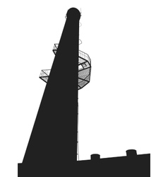 high tower vector image