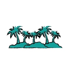 Island palm tree vector