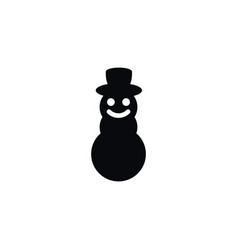 isolated ice person icon winter element vector image