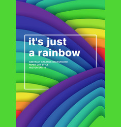 Just a rainbow 3d abstract background bright vector