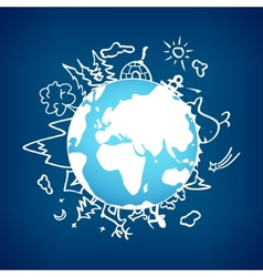 Life out of a civilization on the globe vector image