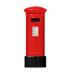 London red post mailbox isolated on white vector