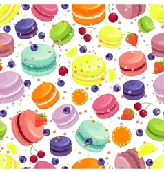 Macaroons seamless pattern vector
