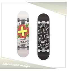 Medical marijuana skateboard six vector