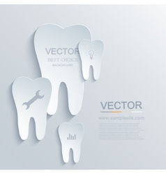 Modern tooth background vector