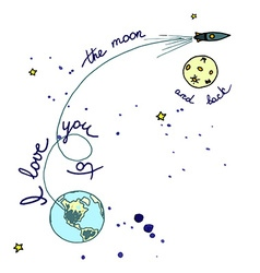 Moon poster vector