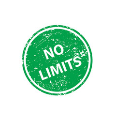 no limits stamp texture rubber cliche imprint web vector image