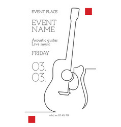 one line event poster vector image