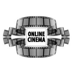 Online cinema video film vector image