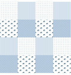 patchwork pattern in blue colors vector image