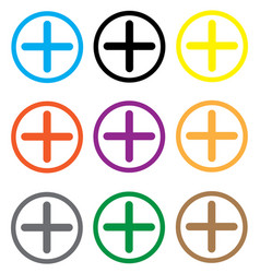 plus concept icon on white background plus vector image vector image